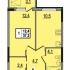 Продается 1 комнатная квартира в новостройке на 10 лет Октября