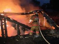Из-за короткого замыкания в Завьяловском районе сгорел дом